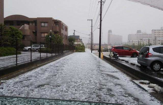 雹(ひょう)多摩地区20190504