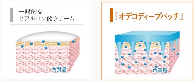 オデコディープパッチの皮膚への浸透