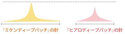 針の長さの違い