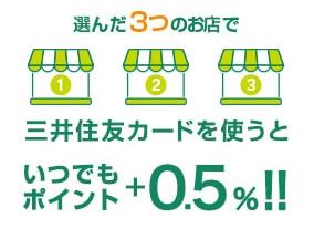 三井住友カード・3つのお店